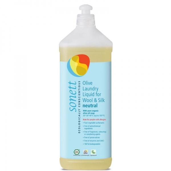 SONETT Olivový prací gel na vlnu a hedvábí NEUTRAL Objem 1000 ml