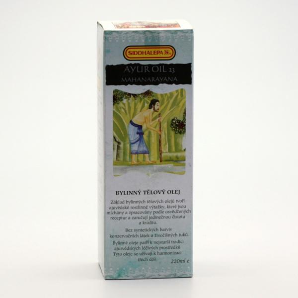 SIDDHALEPA Ayur bylinný tělový olej č. 23 Mahanarayana - olej na klouby Objem 220 ml