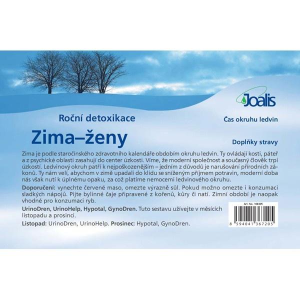 JOALIS Detoxikační balíček Zima - ženy, okruh ledvin Objem 1 set, Forma Bioinformační preparát - kapky