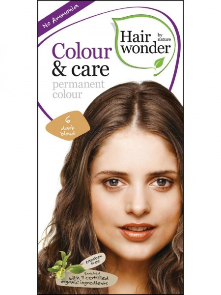 HAIRWONDER Přírodní dlouhotrvající barva BIO TMAVÁ BLOND 6 Objem 1 balení