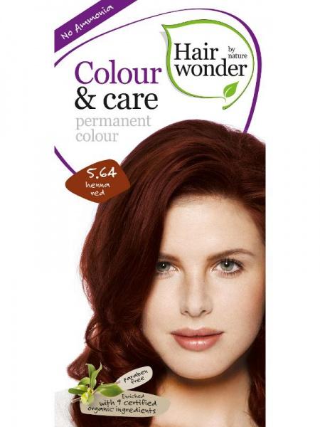 HAIRWONDER Přírodní dlouhotrvající barva BIO ČERVENÁ HENNA 5.64 Objem 1 balení