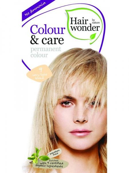HAIRWONDER Přírodní dlouhotrvající barva BIO VELMI SVĚTLÁ BLOND 9 Objem 1 balení