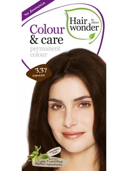 HAIRWONDER Přírodní dlouhotrvající barva BIO ESPRESSO 3.37 Objem 1 balení