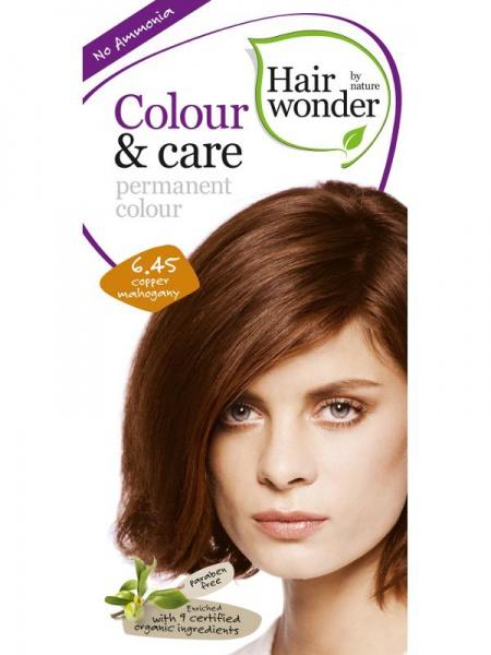 HAIRWONDER Přírodní dlouhotrvající barva BIO MĚDĚNÝ MAHAGON 6.45 Objem 1 balení
