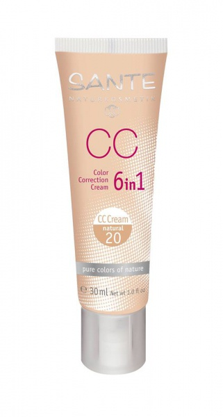 SANTE CC Krém 6 v 1 No.20 natural Objem 30 ml