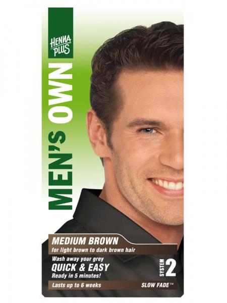 HENNA PLUS Přírodní barva pro muže HNĚDÁ Objem 1 balení