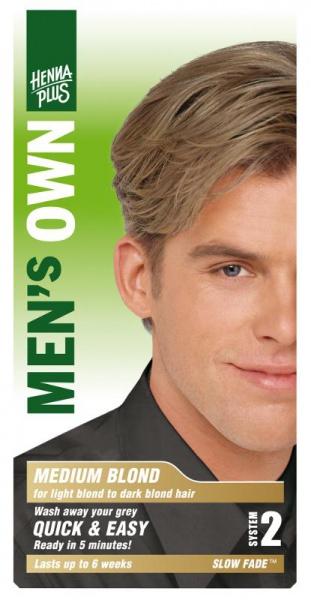 HENNA PLUS Přírodní barva pro muže STŘEDNĚ BLOND Objem 1 balení