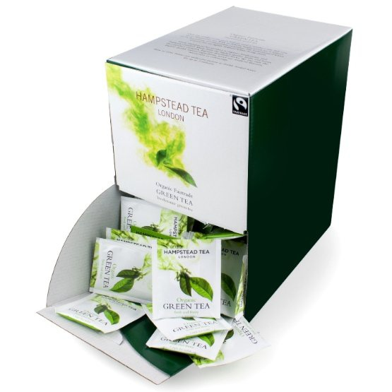 HAMPSTEAD TEA LONDON BIO Zelený čaj čaje 250 ks