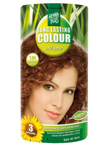 HENNA PLUS Dlouhotrvající barva CAFE LATTE 7.54 Objem 1 balení