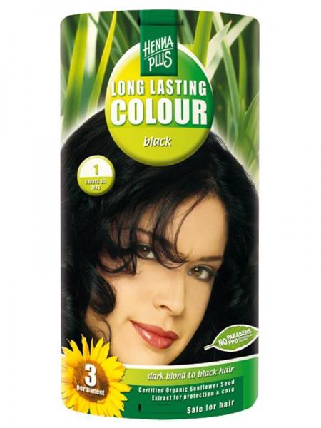 HENNA PLUS Dlouhotrvající barva ČERNÁ 1 Objem 1 balení