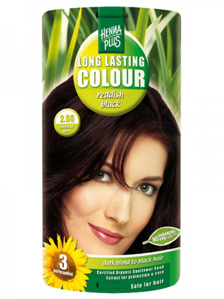 HENNA PLUS Dlouhotrvající barva ČERVENĚ ČERNÁ 2.66 Objem 1 balení