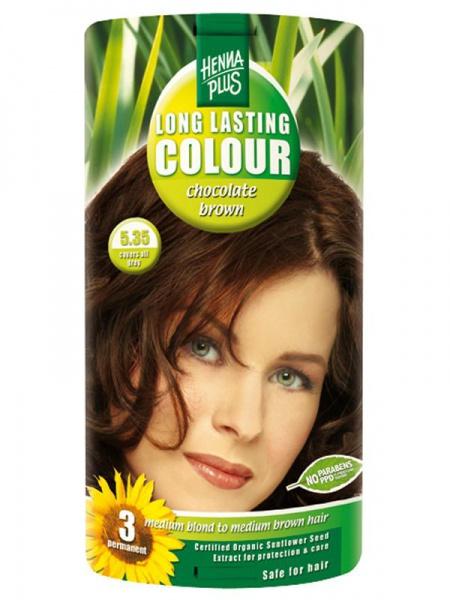 HENNA PLUS Dlouhotrvající barva ČOKOLADOVĚ HNĚDÁ 5.35 Objem 1 balení
