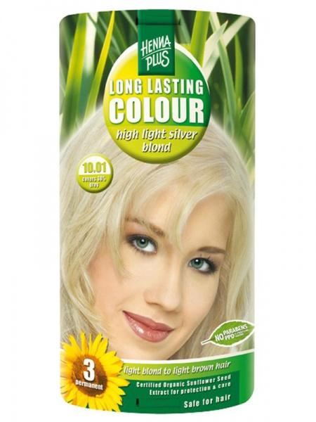 HENNA PLUS Dlouhotrvající barva EXTRA STŘÍBRNÁ BLOND 10.01 Objem 1 balení