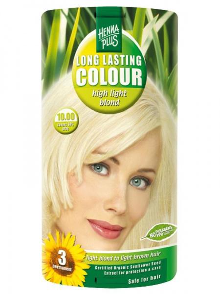 HENNA PLUS Dlouhotrvající barva EXTRA SVĚTLÁ BLOND 10.00 Objem 1 balení