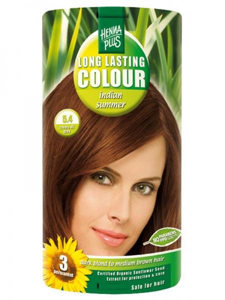 HENNA PLUS Dlouhotrvající barva INDIÁNSKÉ LÉTO 5.4 Objem 1 balení