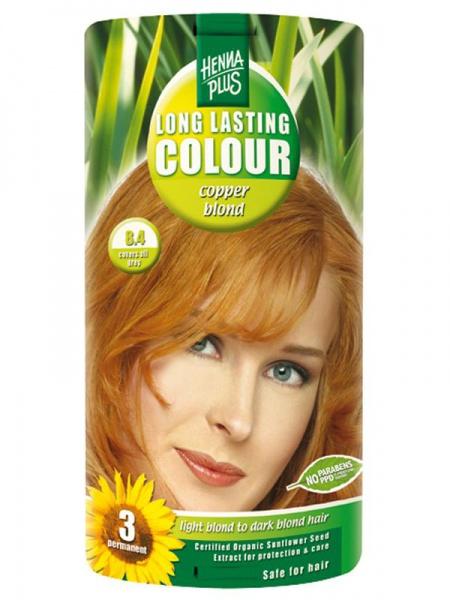 HENNA PLUS Dlouhotrvající barva MĚDĚNÁ BLOND 8.4 Objem 1 balení