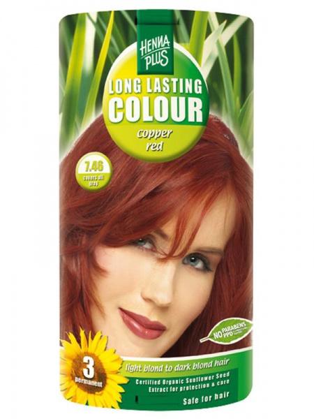 HENNA PLUS Dlouhotrvající barva MĚDĚNĚ ČERVENÁ 7.46 Objem 1 balení
