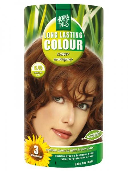 HENNA PLUS Dlouhotrvající barva MĚDĚNÝ MAHAGON 6.45 Objem 1 balení