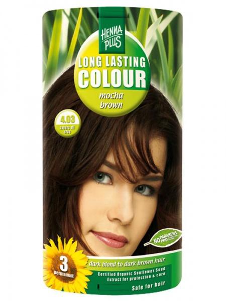 HENNA PLUS Dlouhotrvající barva MOCCA HNĚDÁ 4.03 Objem 1 balení