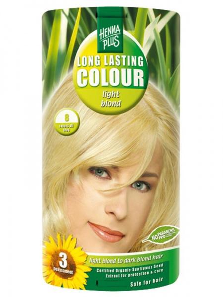 HENNA PLUS Dlouhotrvající barva SVĚTLE BLOND 8 Objem 1 balení