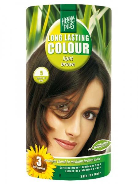 HENNA PLUS Dlouhotrvající barva SVĚTLE HNĚDÁ 5 Objem 1 balení