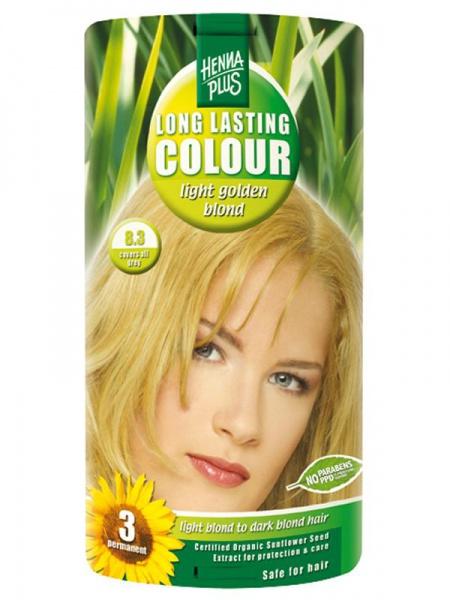 HENNA PLUS Dlouhotrvající barva SVĚTLE ZLATÁ BLOND 8.3 Objem 1 balení