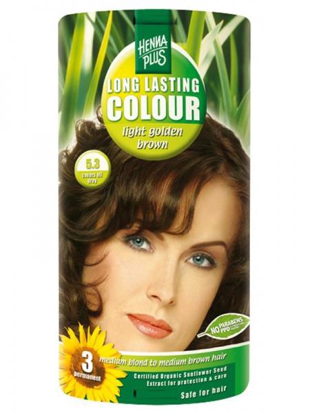HENNA PLUS Dlouhotrvající barva SVĚTLE ZLATÁ HNĚDÁ 5.3 Objem 1 balení