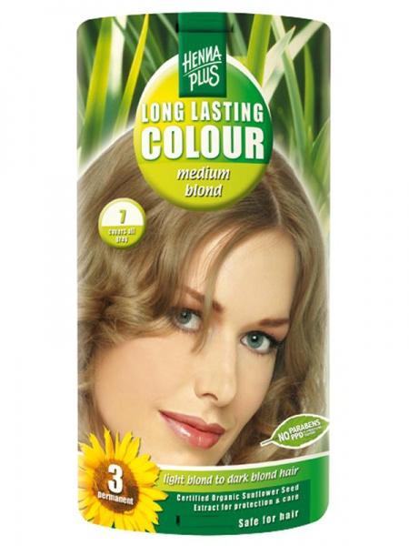 HENNA PLUS Dlouhotrvající barva SYTĚ BLOND 7 Objem 1 balení
