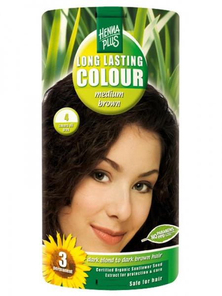 HENNA PLUS Dlouhotrvající barva SYTĚ HNĚDÁ 4 Objem 1 balení
