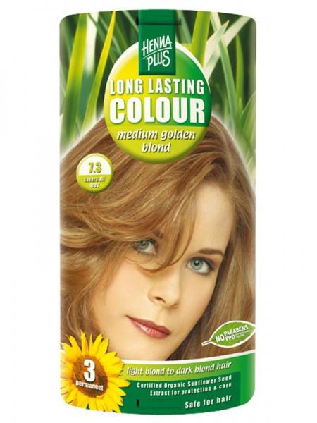 HENNA PLUS Dlouhotrvající barva SYTĚ ZLATÁ BLOND 7.3 Objem 1 balení