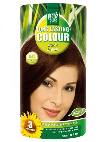 HENNA PLUS Dlouhotrvající barva TEPLÁ HNĚDÁ 4.45 Objem 1 balení