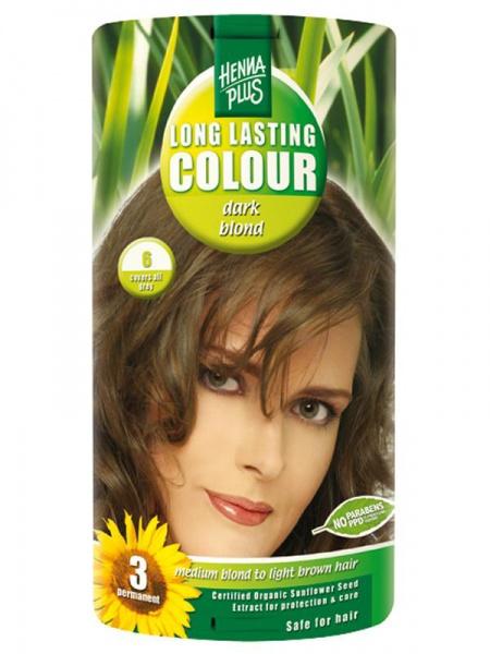 HENNA PLUS Dlouhotrvající barva TMAVĚ BLOND 6 Objem 1 balení