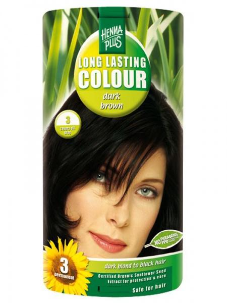 HENNA PLUS Dlouhotrvající barva TMAVĚ HNĚDÁ 3 Objem 1 balení