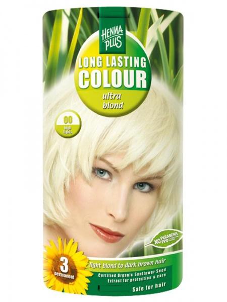 HENNA PLUS Dlouhotrvající barva ULTRA BLOND 00 zesvětlující Objem 1 balení