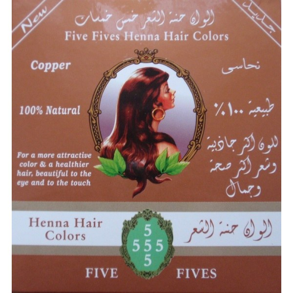 FIVE FIVES Henna Lamda Měděná Objem 100 g