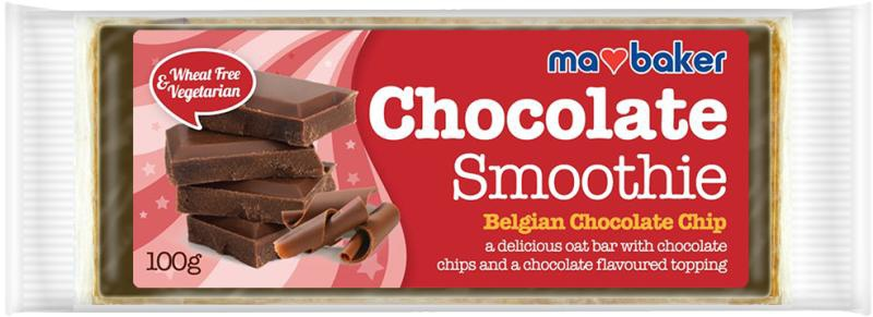 MA BAKER Obří ovesná tyčinka s polevou Objem 100 g, Příchut Pomeranč s belg.čokoládou