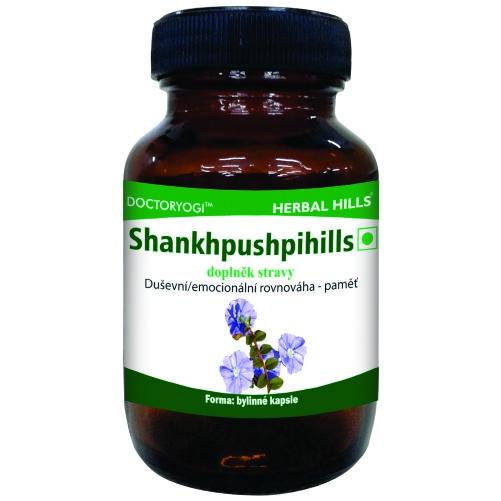 HERBAL HILLS Shankhpushpihills - duševní a emocionální rovnováha Bylinné kapsle 60 kapslí