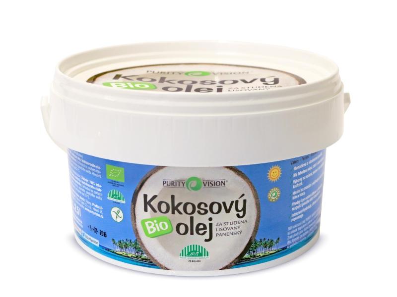 PURITY VISION BIO Kokosový olej Objem 2,5 kg