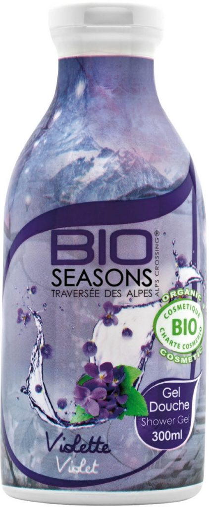 BIO SEASONS Sprchový gel Fialky BIO Objem 300 ml