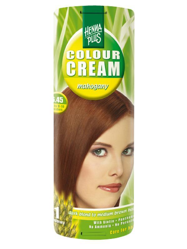 HENNA PLUS Přírodní barva krémová MAHAGON 6.45 Objem 60 ml