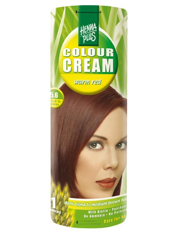 HENNA PLUS Přírodní barva krémová TMAVĚ ČERVENÁ 5.6 Objem 60 ml