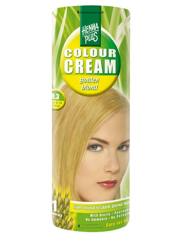 HENNA PLUS Přírodní barva krémová ZLATÁ BLOND 8.3 Objem 60 ml