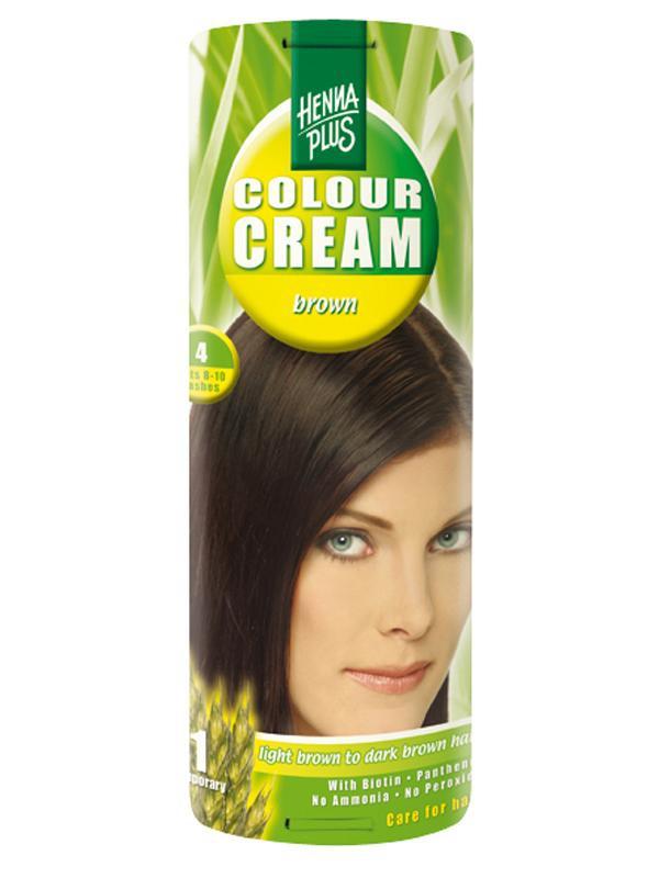 HENNA PLUS Přírodní barva krémová HNĚDÁ 4 Objem 60 ml