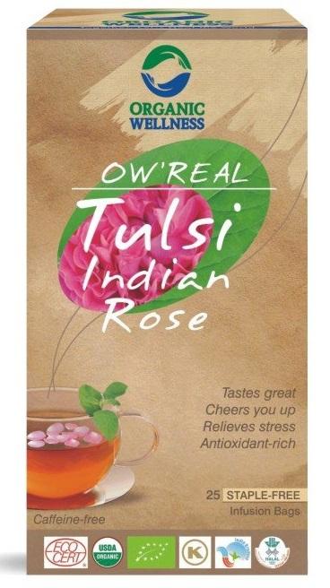 ORGANIC WELLNESS BIO Tulsi Indická růže čaje 25 x 1,55 g