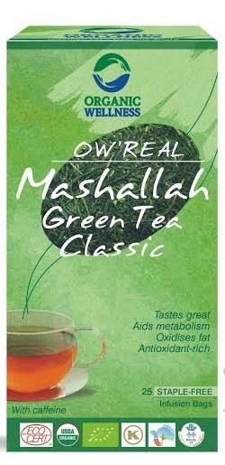 ORGANIC WELLNESS BIO Tulsi se zeleným čajem Mashallah čaje 25 x 1,55 g