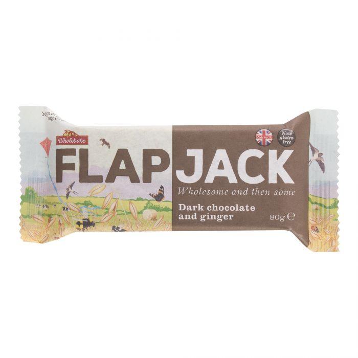 WHOLEBAKE Flapjack ovesný čokoláda se zázvorem bezlepkový Objem 80 g