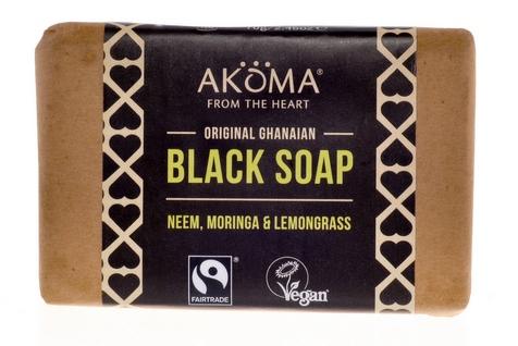 AKÖMA Černé mýdlo s citronovou trávou Objem 70 g