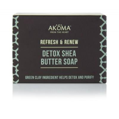 AKÖMA Detoxikační a čistící mýdlo se zelenými jíly Objem 105 g
