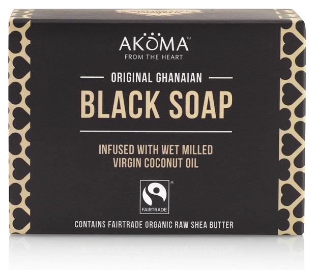 AKÖMA BIO & Fairtrade černé africké tuhé mýdlo Objem 145 g