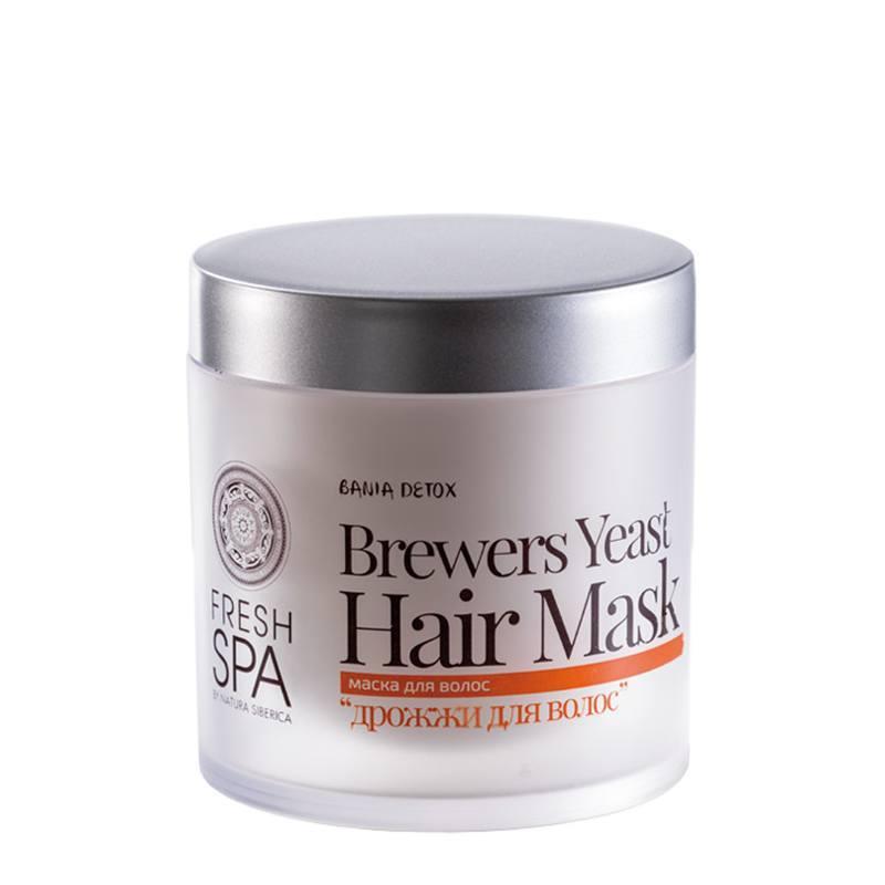 NATURA SIBERICA Bania Detox – Maska pro posílení vlasů Pivní kvasnice Objem 400 ml